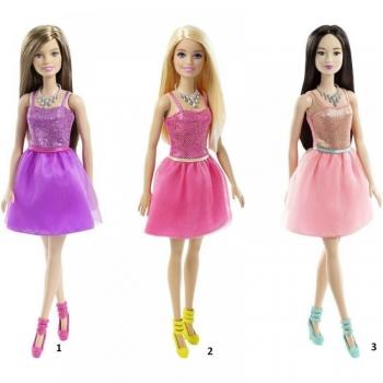 Barbie Κούκλα Μοντέρνα Φορέματα Με Αξεσουάρ-3 Σχέδια (T7580)