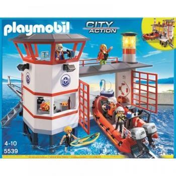 Playmobil Πλωτή Βάση Ακτοφυλακής Με Φάρο (5539)