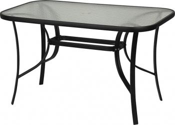 Τραπέζι Μεταλλικό Παραλληλόγραμμο Μαύρο 120X70 (TAB-12070BL)