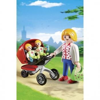 Playmobil Μητέρα με δίδυμα και καροτσάκι City Life (5573)