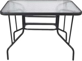 Τραπέζι Κήπου Μεταλλικό 100x65 Μαύρο (Tab-10065bl) Epam