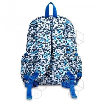 JWorld Σχολική Τσάντα Πλάτης 'Geo Blue'
