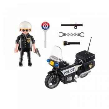 Playmobil City Action Βαλιτσάκι Αστυνόμος με Μοτοσυκλέτα (5648)
