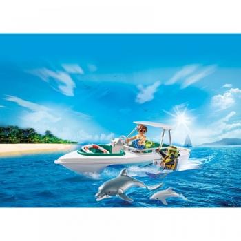 Playmobil Family Fun Ταχύπλοο Με Δύτη & Δελφίνια (6981)