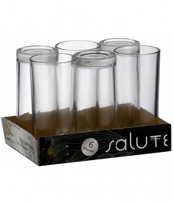 Ποτήρια Νερού Σετ 6 Τεμαχίων Σωλήνα Χωρητικότητας 7 Οζ