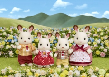 Sylvanian Families Chocolate Rabbit Οικογένεια