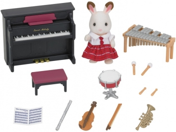 Sylvanian Families Σετ Chocolate Rabbit Girl & Μουσικά Όργανα