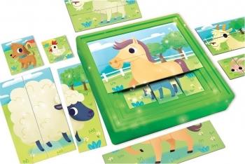Real Fun Toys Carotina Baby 3 Επιπεδων Παζλ Η Φαρμα pcs (58440)