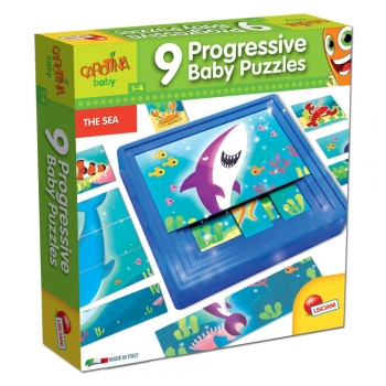 Carotina Baby 9 Progressive Baby Puzzles The Sea (58457)