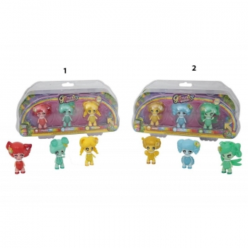 Glimmies Rainbow Friends Σετ 3 Κούκλες - 2 Σχέδια
