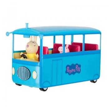 Peppa Pig Σχολικό Λεωφορείο Με Ήχους Και 2 Φιγούρες