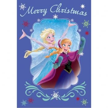 Κάρτα Χριστουγέννων Frozen 3σχ