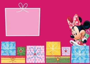 Κάρτα Χριστουγέννων Minnie 3σχ
