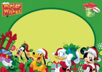 Κάρτα Χριστουγέννων Mickey 3σχ