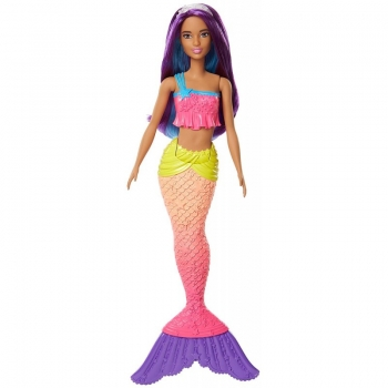 Mattel Barbie Dreamtopia Rainbow Cove Γοργόνα, Μωβ FJC89 / FJC90