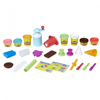 Hasbro Play-Doh Kitchen Creations Frozen Treats - Σετ Δημιουργία Παγωτού