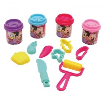 Πλαστελίνα Κουβαδάκι Με 4 Βαζάκια Πλαστελίνης Και Εργαλεία Minnie