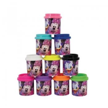 10 Βαζάκια Πλαστελίνης Σε Κουτάκι Minnie