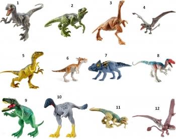 Jurassic World Φιγούρες Δεινοσαύρων-12 Σχέδια (FPF11)