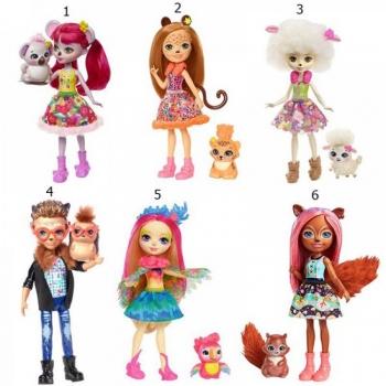 Enchantimals - Κούκλα & Ζωάκι Φιλαράκι - Νέοι Φίλοι 6 Σχέδια (FNH22)