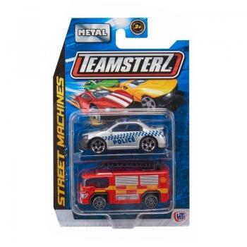 Teamsterz Street Machines 2 Αυτοκινητάκια Μεταλλικά 1:64 - 9 Σχέδια