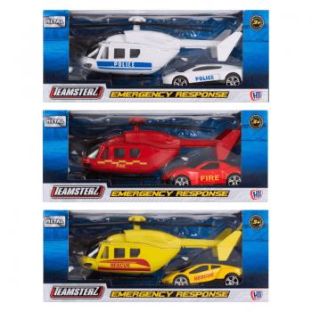 Teamsterz Ελικόπτερο Και Όχημα Άμεσης Δράσης Emergency Response, 1:64 - 3 Σχέδια