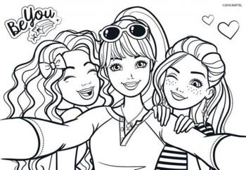 Μπλοκ Ζωγραφ Barbie 23x33 40φυλ Αυτοκ-στενσιλ-2σελ Χρ 2σχ