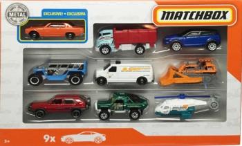 Matchbox Αυτοκινητάκια Σετ Των 9 (Διάφορα Σχέδια)