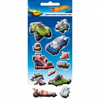 Αυτοκόλλητα GIM Hot Wheels Foam Stickers