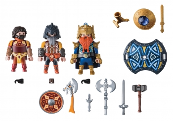 Playmobil Knights Βασιλιάς Των Νάνων Με Δύο Φρουρούς