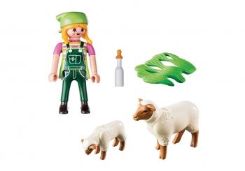 Playmobil Special Plus Αγρότισσα Με Προβατάκια