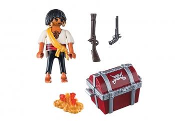 Playmobil Special Plus Πειρατής Με Σεντούκι Θησαυρού