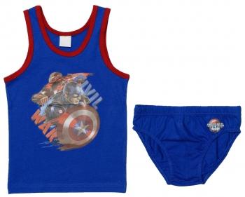 Εσώρουχα Σετ Φανέλα Σλιπ Captain America (CA03031)