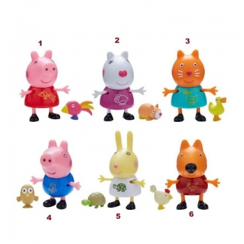 Peppa Pig Φιλαράκια Και Ζωάκια Σετ 2 Φιγούρες - 6 Σχέδια
