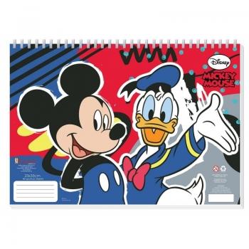 Mickey Mouse Μπλοκ Ζωγραφικής 40 Φύλλα Με Αυτοκόλλητα - 2 Σχέδια