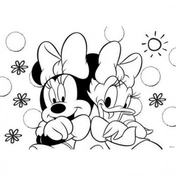 Μπλοκ Ζωγραφ Minnie 23x33 40φυλ Αυτοκ-στενσιλ- 2σελ Χρ 2σχ