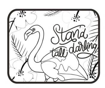 Ηλιοπροστασια Flamingo Darling Αυτοκίνητου 44χ36εκ Σετ 2τεμ Με Πόστερ Χρωματισμού