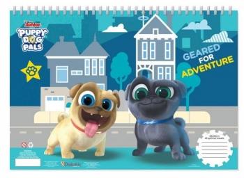 Μπλοκ Ζωγραφ Puppy Dog Pals 23x33 40φυλ Αυτοκ-στενσιλ-2σελ Χρ 2σχ