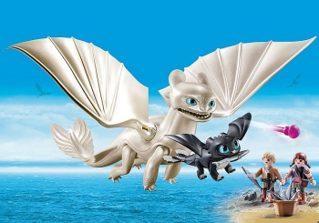 Playmobil Dragons Η Λευκή Οργή & Ένας Δρακούλης Με Τα Παιδιά (70038)