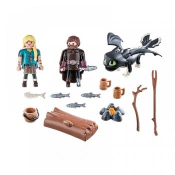 Playmobil Ο Ψάρης και η Άστριντ με ένα Δρακούλη (70040)