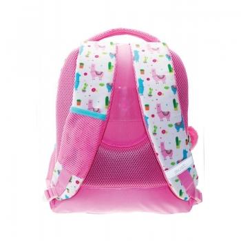 Πολυθεσιακή Τσάντα Πλάτης Δημοτικού Λάμα Ροζ 32x18x43 Εκ.