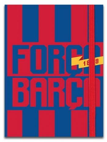 Σημειωματάριο Με Λάστιχο 10χ13, 5εκ 4σχ 96φ Barcelona