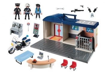 Playmobil City Action Βαλιτσάκι - Αστυνομικό Τμήμα