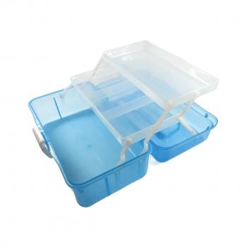 Κουτί Αποθήκευσης Διάφανο με Καπάκι 4 Θέσεων 14x27x13