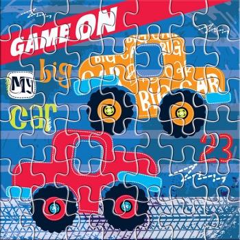 Puzzle 42 Τεμάχια 25x20x5εκ. Αυτοκίνητα Luna