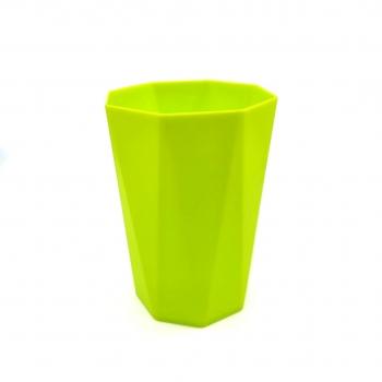 Σετ Πλαστικά Ποτήρια με Γωνίες Διάφορα Χρώματα 4 Τεμάχια