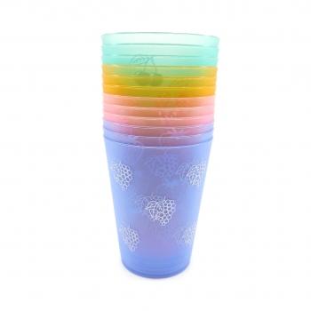 Σετ Πλαστικά Ποτήρια Διάφορα Χρώματα 12 Τεμάχια