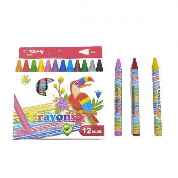 Κηρομπογιές Crayons Μικρές 12 Τεμάχια