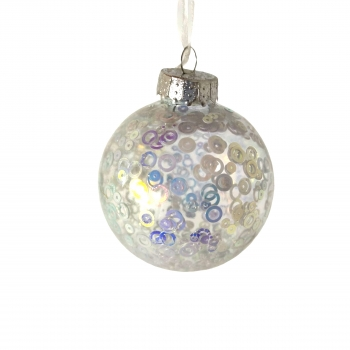 Μπλ Διαφ Αστεράκια Glitter 8 Cm