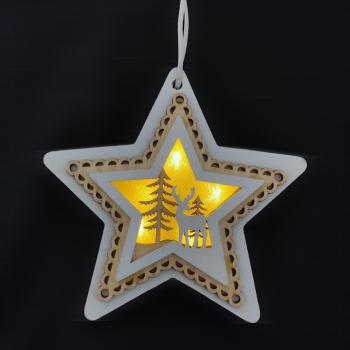 Ξυλ Κρεμαστό Αστέρι 13. 5* 11. 5* 1. 5cm